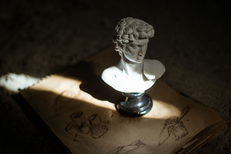 Michelangelo Michelangelo's David Indoors  Antique Illuminated Representation Art And Craft Still Life Creativity Art Arts Culture And Entertainment ArtWork Art And Craft Gallery Sculpture The Past History Old Human Representation Sketch Sketchbook Sketching