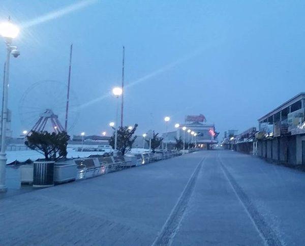 Slushy kind of day.... Oceancitycool OceanCity Maryland Ocmd Winter Snow