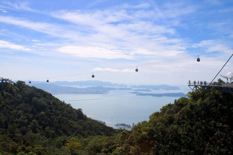 Bridge the gap Cable Car Travel Langkawi Island Malaysia Skycab Sky Nature Cloud - Sky Scenics Beauty In Nature Flying Tree Mountain