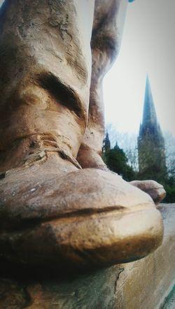 Best foot forward. Statue History Urban Landscape