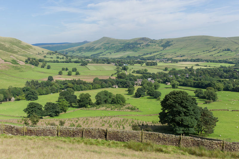 Agriculture Beauty In Nature Britain Country Life Countryside Cultivated Land Day Derbyshire Edale England Idyllic Kinder Scout Landscape Lush Foliage National Park Nature Non-urban Scene Rural Rural Scene Scenics Sky Summer Tranquil Scene