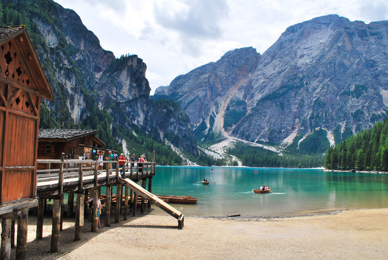 Mountain Water Landscape Travel Lake Vacations Outdoors Scenics Travel Destinations Mountain Range Nature Beauty Beauty In Nature Nautical Vessel Sky Day NikonD60 Montagna Nikon Nikonphotography Boat Braieslake Italy