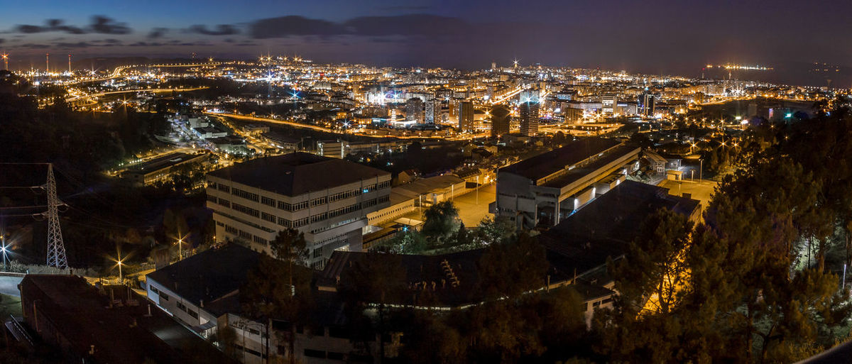 Heights Aerial View Architecture Buildings Business Finance And Industry City City Cityscape Cityscape Coruña Dark Downtown District Dusk Galicia Illuminated Landscape Light Night Nightphotography No People Outdoors Panorama Sky Travel Destinations Urban Skyline Vacations