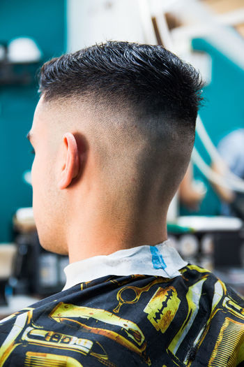 Trimmed male hairstyle