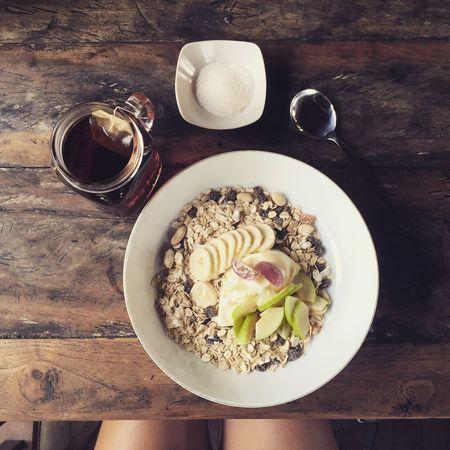 Happy start to my day in Ubud INDONESIA Bali Ubud Happy Breakfast Museli English Breakfast Tea Above Health