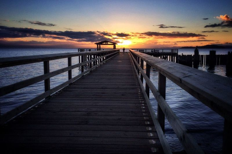 Showcase March Beach Sunset Ocean Sunset  Pier Hanging Out Life In Colors Waterfront