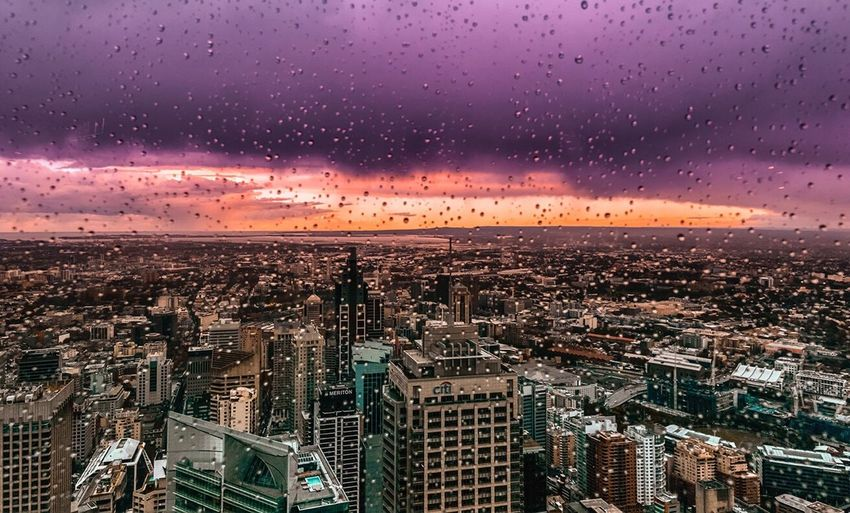 Sydney in rain... Cityscape Skyscraper Urban Skyline Architecture City Travel Destinations Aerial View Sky Horizon Over Land Sunset Building Exterior Cityview Urban Landscape Urbanphotography Clouds Cloudscape Sydney Australia Travel Eyeem Market EyeEm Best Shots EyeEm Best Shots - Landscape Getty Images Travel Photography EyeEm Masterclass The Great Outdoors - 2017 EyeEm Awards