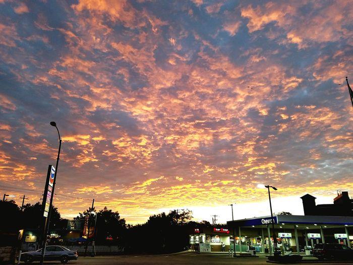 Clouds And Sky Sunrise Fire In The Sky Clouds Cloudscape Dramatic Sky Sky Austin Austin Texas