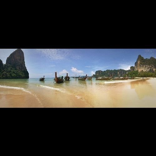 Probably the most beautiful beach I've been to in my life - Railey Beach. Candjsbigtrip2014 Krabi Raileybeach Thailand Thailandluxe Longboats Travel Vacation Afterlight Vscocam Vscophile VSCO @travelandleisure