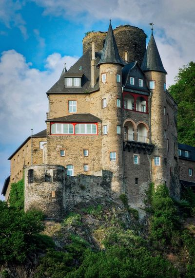 Burg Katz Architecture History Built Structure Sky Cloud - Sky No People Building Exterior Abandoned Day Outdoors Castle Oberes Mittelrheintal Rocks Germany🇩🇪 AMP PICTURES