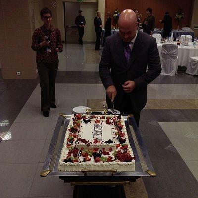 Торт InterSystems Поздравляем с 15-ти летием Российского филиала!