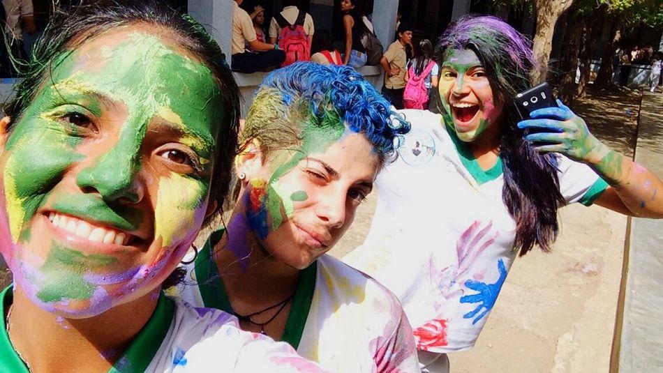 Paint School Girls Hair