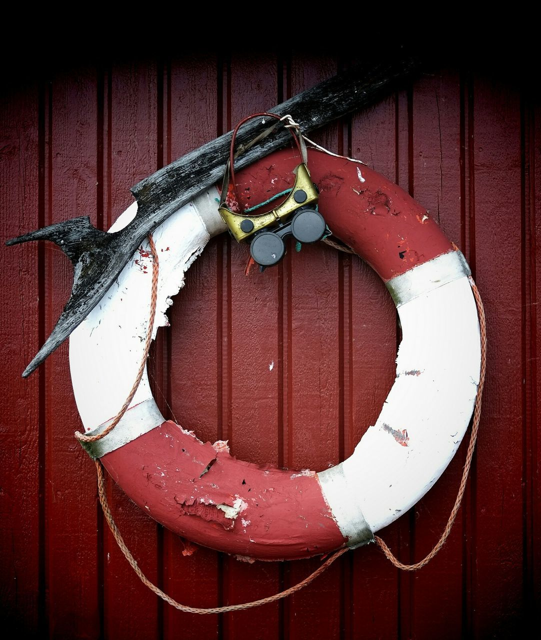 Ring Buoy Mounted On Wall