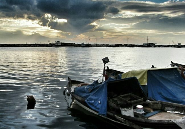 Sea Fisherboats  Sunset Sea And Sky Getting Inspired Calmness Light Seascape EyeEm Best Shots