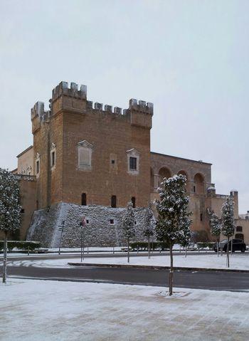 Mesagne, Castello Svevo ore 7 : 00 31 / 12 / 2014 Castle Old City Italy Mesagne