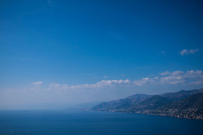 San Rocco Beauty In Nature Blue Day Horizon Over Water Mountain Nature No People Outdoors Scenics Sea Sky Tranquil Scene Tranquility Water Perspectives On Nature