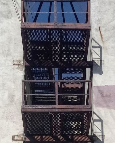 #day #sky #Blue #bluesky #blue Sky #industrial #industry Sky Built Structure Close-up Metal Industry Foundry Fire Escape Emergency Exit Lookout Tower