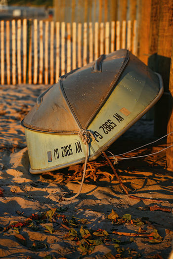 Boat Life Boating Close-up Communication Day No People Old-fashioned Outdoors Sunset Text