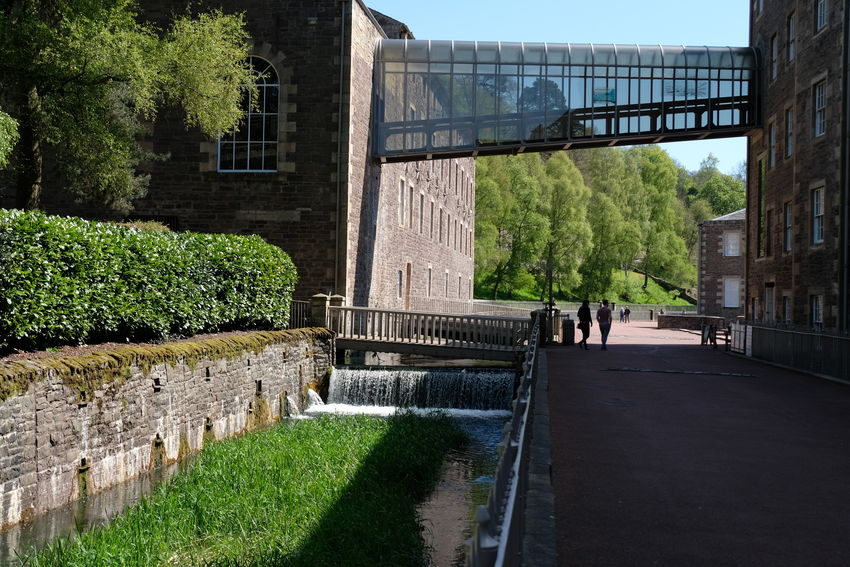World Heritage Village Architecture Historical Building Historical Place New Lanark No People River Clyde Reflection Riverside Scotland World Heritage Site By UNESCO