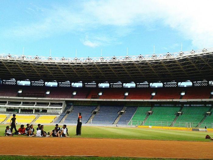 Jakarta INDONESIA Indonesian Stadium Practicing cool!