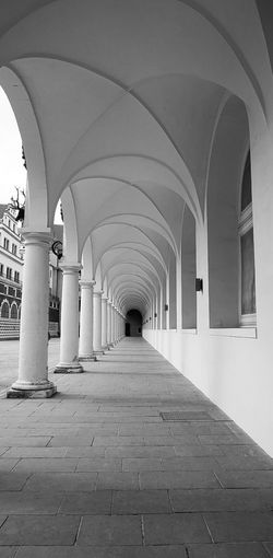 The Way Forward Arch Corridor Architecture Built Structure Indoors  Architectural Column Empty No People Day Blackandwhite Sony A5000 Sonyalpha