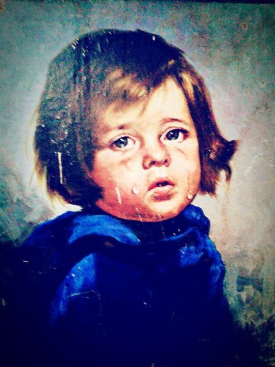 @ Crying Baby - Art Teardrops Art & Painting Work Crying Baby Childhood Looking At Camera Portrait Baby Headshot One Person Close-up Indoors  Day EyeEmNewHere AI Now Babyhood Indoors  Front View