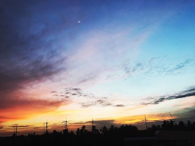 Blue or red? Sunset Beauty In Nature Sky Cloud - Sky Day Cloud Beautiful Love