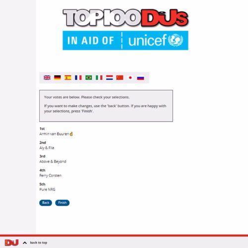 MY Vote FOR DJMag Top 100 Djs 2017 : 1. Armin Van Buuren ☝  AvB  2. Aly & Fila /FSOE\ 3. Above & Beyond \A&B/ 4. Ferry Corsten ~FC~ 5. Pure NRG \ₒGO&Sₒ/ #Unicef #UnicefItalia #UnicefUK #UnicefUSA #AvB #FSOE #AB #FC #GOS #ArminVanBuuren #AvBFamily #ASOTFamily #ArmadaFamily #AlyandFila #FSOE #FSOEFamily #AboveandBeyond #ABFamily #ABGTFamily #AnjunaFamily #FerryCorsten #FCFamily #CorstensCountdown #CCFamily #PureNRG #GiuseppeOttaviani #GOOnAir #Solarstone #PureTrance #VivaLaTrance #WeAreTrance #SssssseriousTrance #SssssseriousUplifting #UpliftingTrance #UpliftingFamily #TranceFamily #DJMagTop100 #Top100DJs #DJMag #Top100DJs2017 Vote here —> http://top100djs.com 🎧