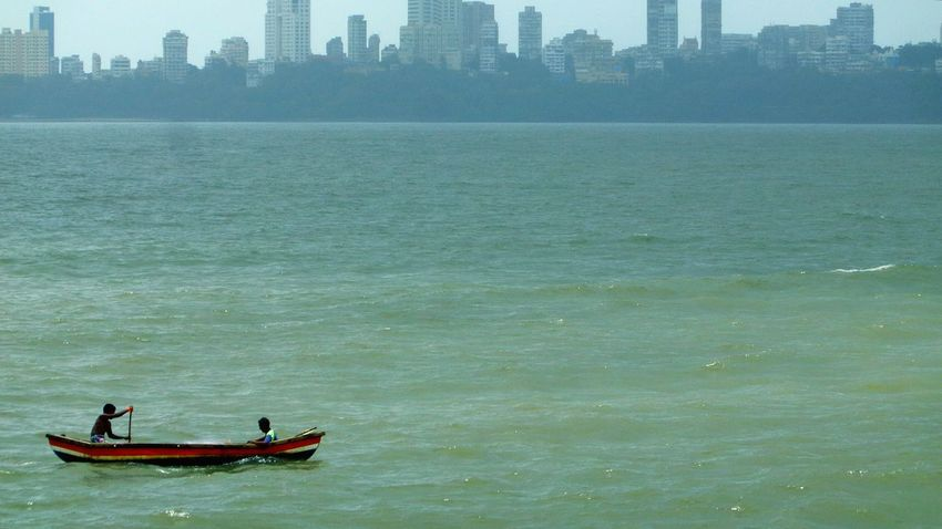The Lone Sailor! Arabian Sea Marine Drive Mumbai MumbaiDiaries Mumbai_in_clicks Mumbaimerijaan First Eyeem Photo