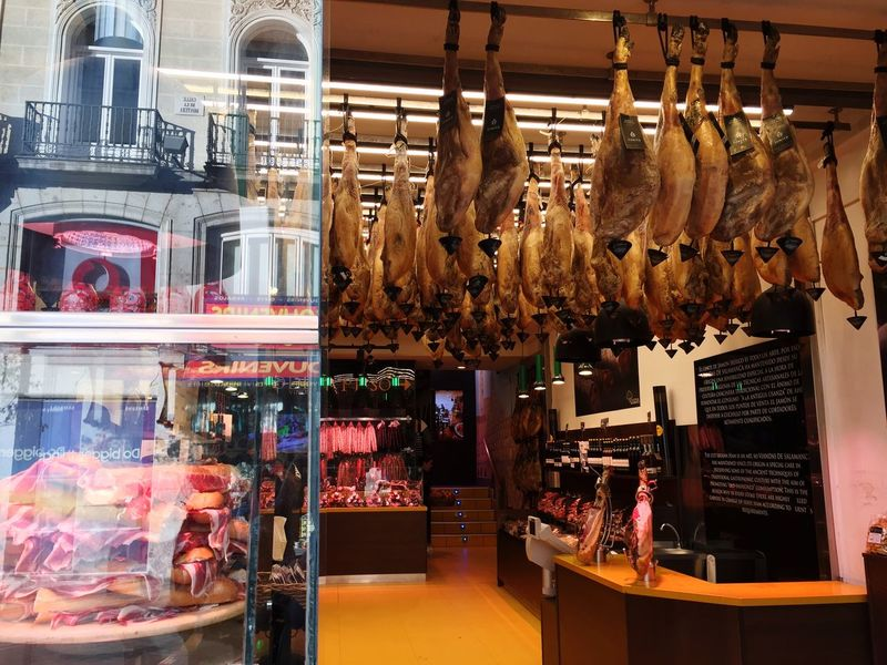 Meat Dead Animals Ham Retail  Store Indoors  No People Food