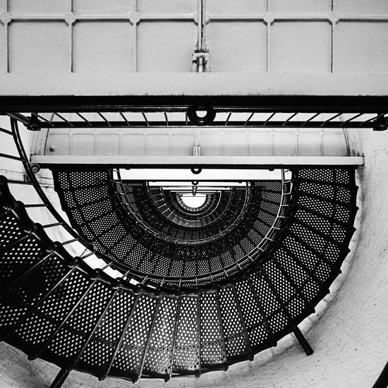Lighthouse from the inside Architecture Built Structure No People Pattern Steps And Staircases Staircase Spiral Indoors  Metal Spiral Staircase Geometric Shape Architecture And Art Lighthouse St. Augustine