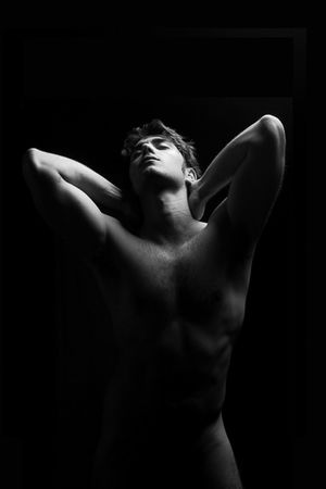 Shirtless Black Background Human Body Part One Person Adult Adults Only One Man Only The Human Body People Muscular Build Beautiful People Only Men Young Adult Beauty Shoulder Men Back Light And Shadow Lowkey  Low Light Nude-Art Nudeartphotography Nudeshoot Nudephotosession Blackandwhite