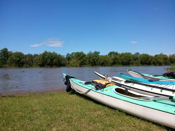 Argentina Beauty In Nature Blue Boat Clear Sky Day Grass Kayak Lake Landscape Moored Nature Naturelovers Nautical Vessel No People Outdoors Scenics Sky Sport Summer Sun Tranquil Scene Tranquility Tree Water
