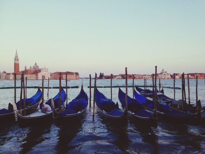 Cultures Gondola - Traditional Boat Travel Destinations Water Cityscape No People Moored Vacations Outdoors Overhead Cable Car Day Summer Broski Photography Canary!Graphics Canary! Scenics Sunset Architecture City Blue