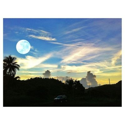 Fullmoon Moon Cloudporn Clouds Skysnappers Skyshooters Skyporn Ourbestshots Outdoors Bestofmycity_2see Best_nature_photo_ever Grenada Palm Coconut