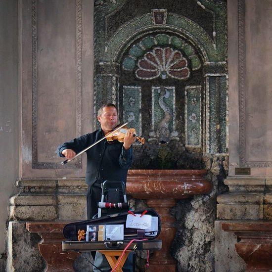 Violinist playing. Beautiful Architecture and Nature . at the Dianatemple in Hofgarten garden. münchen munich Germany Deutschland. Taken by my sonyalpha dslr a57. حديقة طبيعة ميونخ بافاريا المانيا