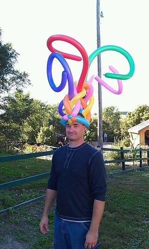 I'm never one to stand out... @ Vala's Pumpkin Patch, Gretna, Nebraska. EyeEmNewHere Goofy Balloons Balloon Hats Balloon Fun Balloon Animals  Balloonart Halloween Halloween Costumes Halloween Festival Colors Of Autumn Squiggles Squiggly Wiggly One Person Real People Casual Clothing Standing Fun Happiness Smiling Outdoors Lifestyles One Boy Only Adult People Sky Childhood Day