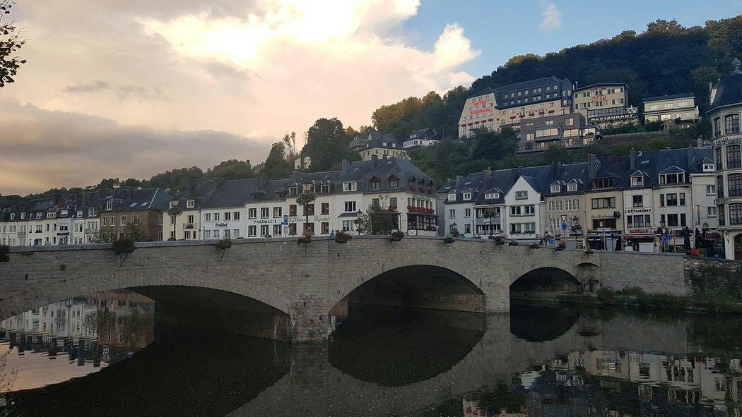 Water Bridge - Man Made Structure Architecture Reflection Cloud - Sky No People Outdoors Sky City Day Cityscape Bouillon Bouillon België