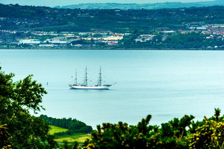Tall Ship Holywood County Down Northern Ireland Belfast Lough Going To Sea Norwegian Tall Ship