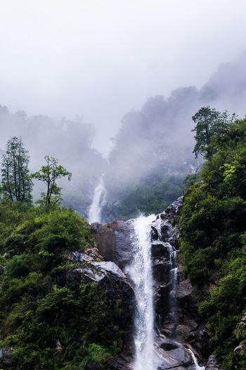 Waterfall Natural Beauty Beautiful View Beautiful Place North Sikkim Lachung