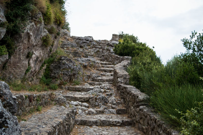 Ruined stairs of a greek medieval castle