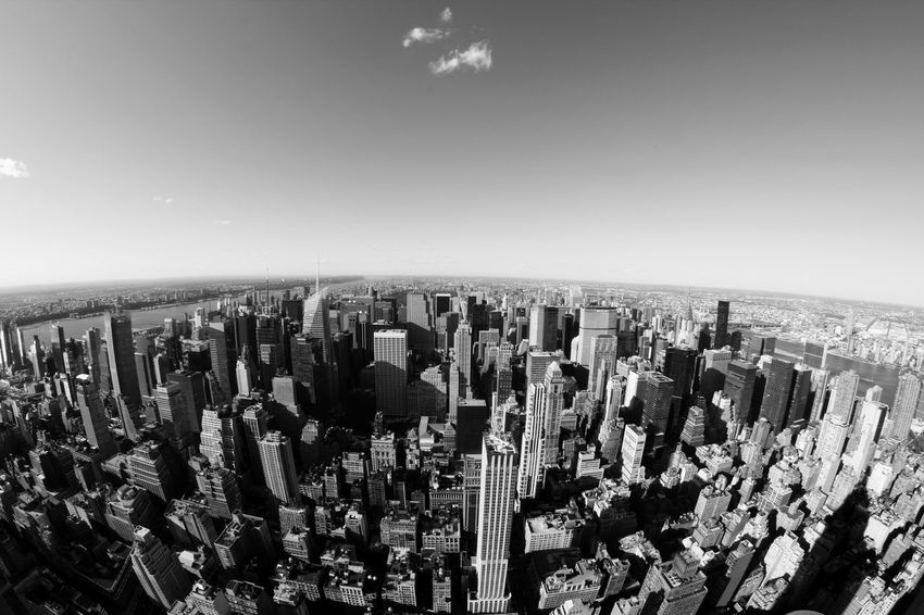 Exhilarating view from The Top of the Rock (the Rockefeller Center towards Central Park Architecture Blackandwhite Breathtaking Building Exterior Buildings Bw Central Park City Cityscape Clear Sky Concrete Jungle Fish-eye Lens Hudson River Modern New York New York City NYC NYC Photography NYC Skyline Outdoors Shadow Sky Skyscraper Travel Destinations Urban Skyline