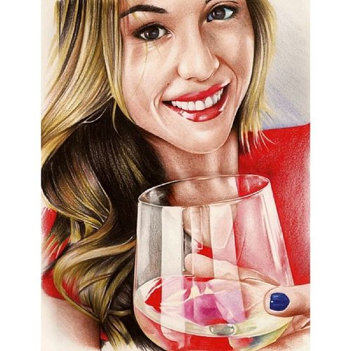 Better version of @brittneypalmer 's portrait.?.... I will post later a photo of this portrait framed on my wall ??? Brittneypalmerartwork Betterversion Details Colours