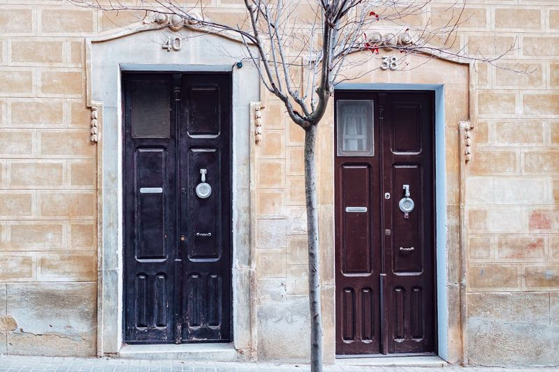 Adapted To The City Building Exterior Door Built Structure Architecture Closed Entrance Outdoors House Doorway Entryway Day Front Door No People SPAIN Europe Trip Europe Barcelona Street City