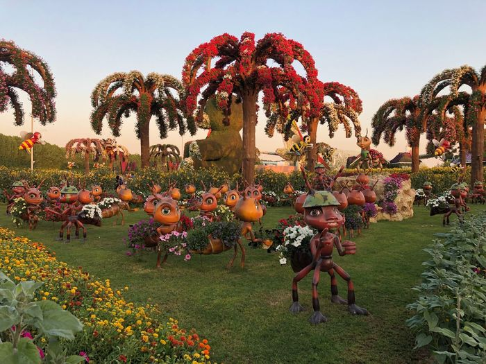 Toy ants 🐜 Dubai Parks Miracle Garden Toys Play Flower Park Plant Sky No People Representation Art And Craft Nature Tree Creativity Decoration Clear Sky Grass Land Park Outdoors