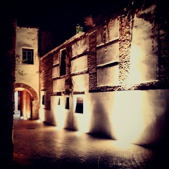 Painting the wall Lights Shadows Wall Night No People EyeEmNewHere Alcalá De Henares. (Madrid) Window