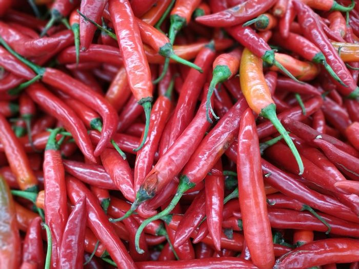 Red Chili EyeEm Selects Red Full Frame Vegetable Spice Business Finance And Industry Market Close-up Food And Drink Red Chili Pepper Chili  Market Stall Farmer Market Stall Street Market Display Retail Display