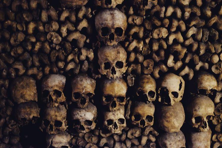 Catacombes Skulls Installation Underground Bones Archeology Beingatourist  Symmetry Death Inarow
