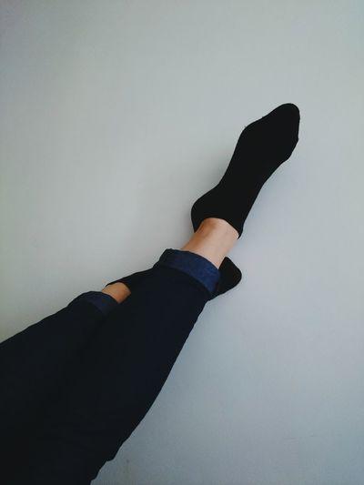 Legs Feet Socks Jeans