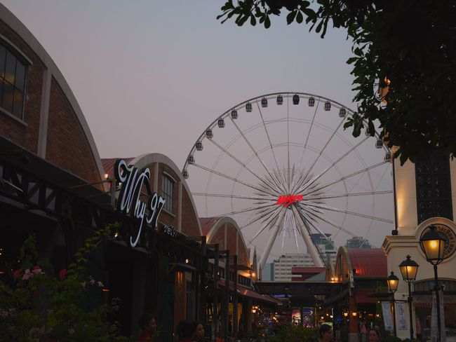 Why? Ferris Wheel Evening Evening Sky Nice Traveling Travel Bangkok Thailand Asiatique Have A Nice Day♥